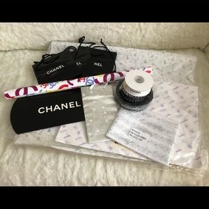 Chanel Ribbons tissue paper and shopping bag